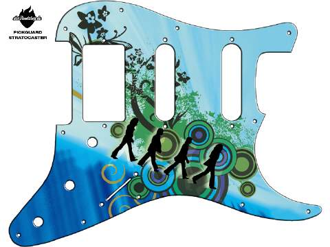 Design Pickguard - Abbey road