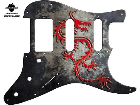 Design Pickguard - Dragon - Stratocaster