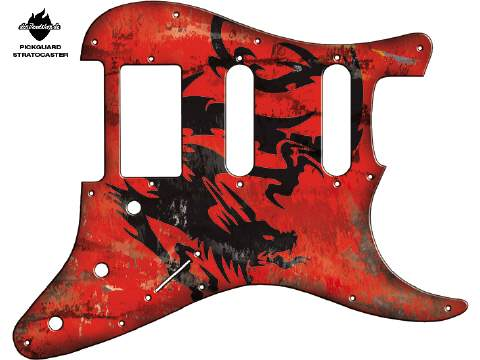 Design Pickguard - Dragon red