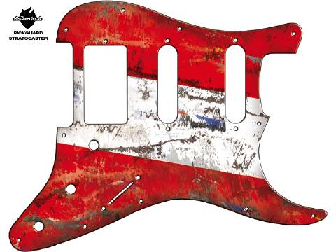 Design Pickguard - Flag Austria