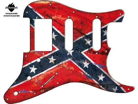 Design Pickguard - Flag Confederation