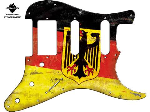 Design Pickguard - Flag German eagle