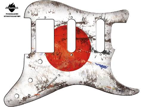 Design Pickguard - Flag Japan