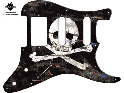 Design Pickguard - Flag Pirat
