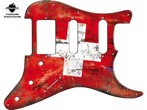 Design Pickguard - Flag Swiss