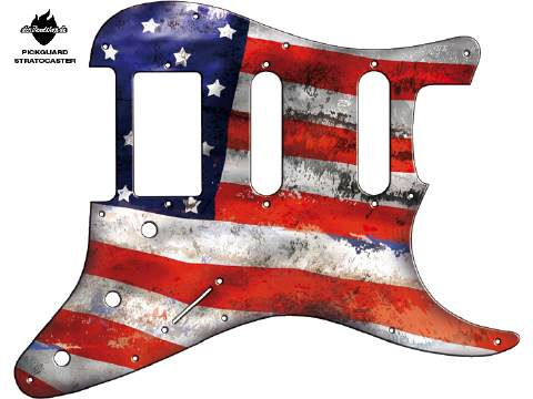 Design Pickguard - Flag USA