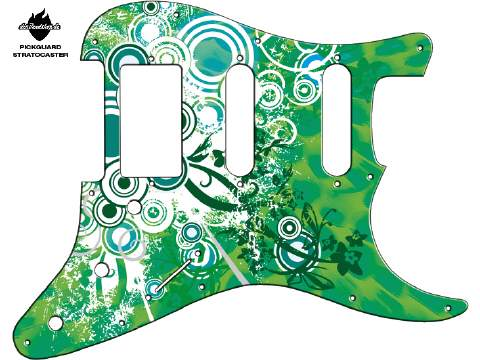 Design Pickguard - Floral green