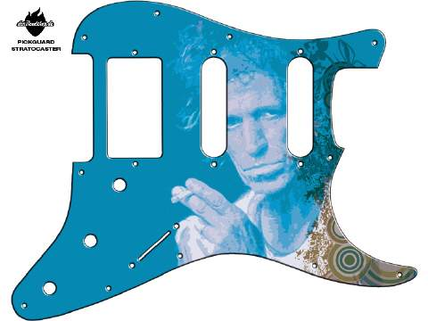 Design Pickguard - Keith blue