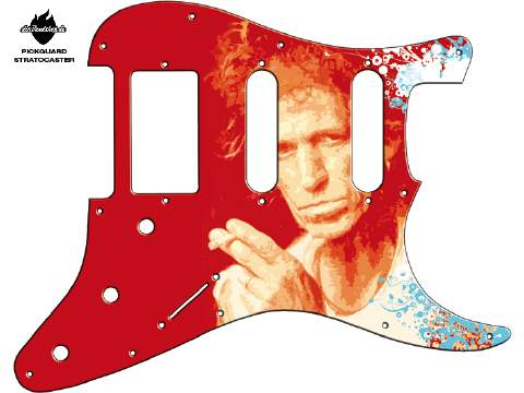 Design Pickguard - Keith red