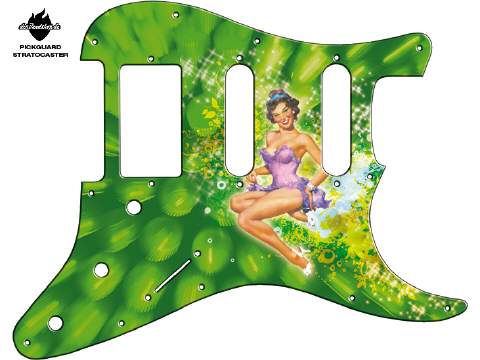Design Pickguard - Pinup Mary