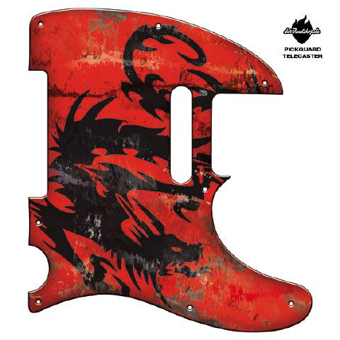Design Pickguard - Dragon Vintage Red