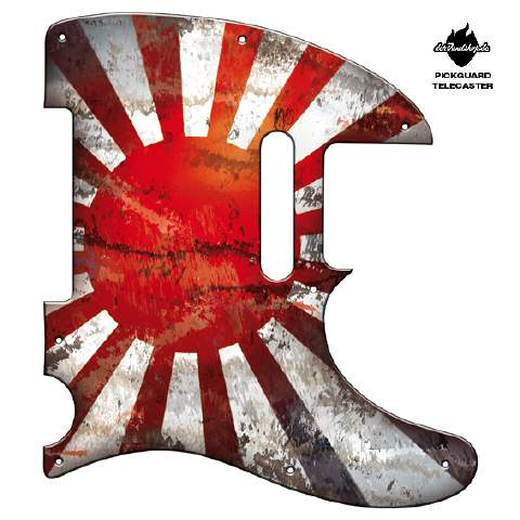 Design Pickguard - Flag Japan Battle