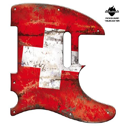 Design Pickguard - Flag Swiss - Telecaster