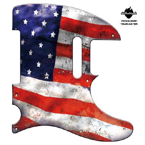Design Pickguard - Flag USA - Telecaster