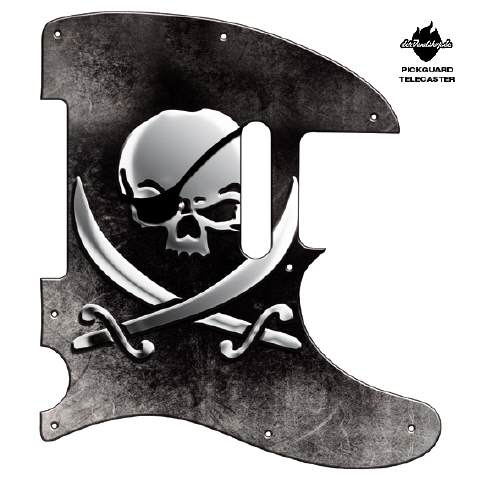 Design Pickguard - Pirate Skull