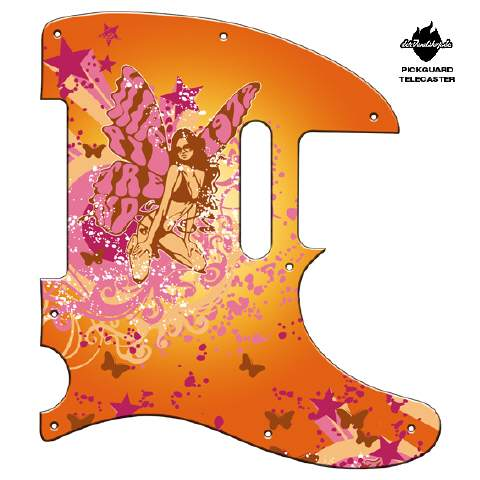 Design Pickguard - Butterfly orange