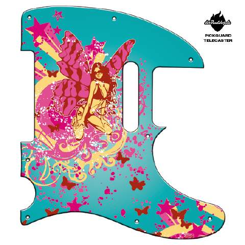 Design Pickguard -Butterfly turqouise