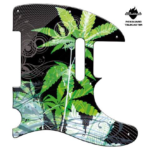 Design Pickguard - Cannabis Black