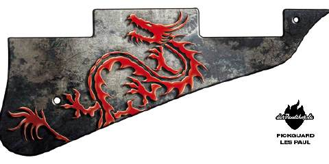 Design Pickguard - Dragon - Les Paul
