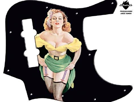 Design Pickguard - Pinup Stacy