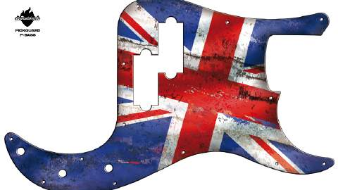 Design Pickguard - Britain - P-Bass