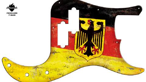 Design Pickguard - German Eagle - P-Bass