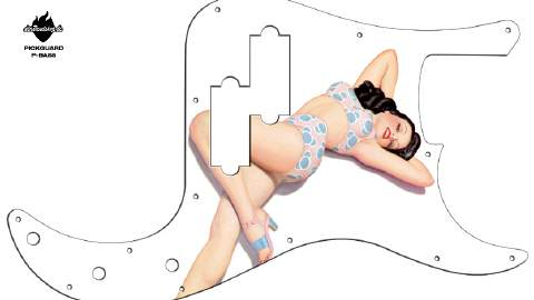 Design Pickguard - Pinup Liz - P-Bass