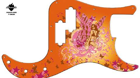 Design Pickguard - Butterfly - P-Bass