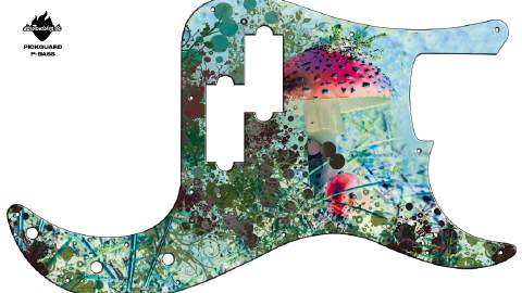 Design Pickguard - Forest - P-Bass