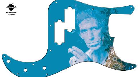 Design Pickguard - Keith Blue - P-Bass