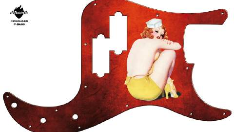 Design Pickguard - Ivory Red - P-Bass
