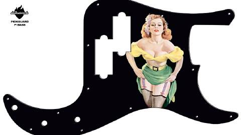 Design Pickguard - Pinup Stacy - P-Bass
