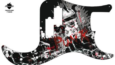 Design Pickguard - Punk - P-Bass