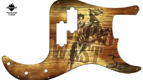 Design Pickguard - Wild West - P-Bass