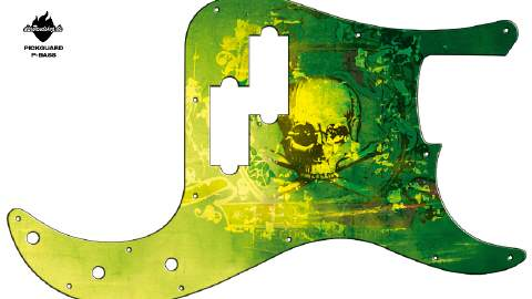 Design Pickguard - Feeling Green - P-Bass