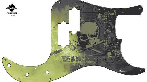 Design Pickguard - Feeling Grey - P-Bass