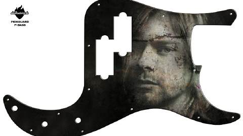 Design Pickguard - Grunge - P-Bass