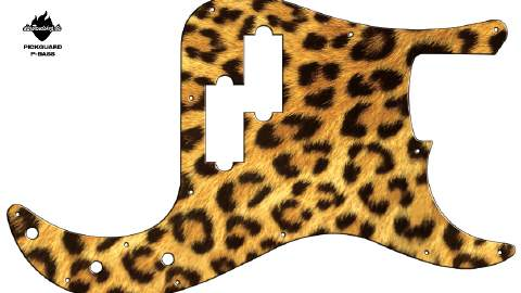 Design Pickguard - Leopard - P-Bass