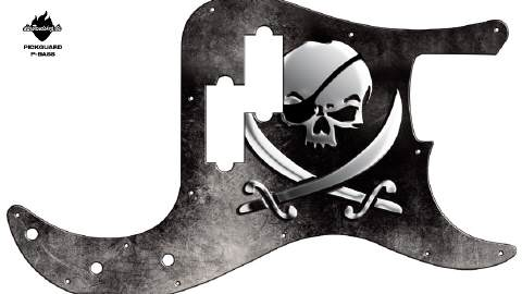 Design Pickguard - Pirate Skull - P-Bass