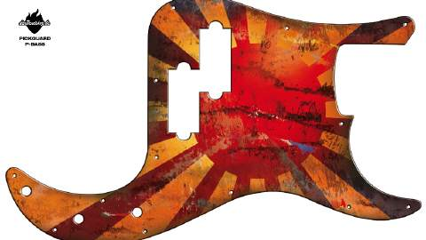 Design Pickguard - Blody Sun - P-Bass