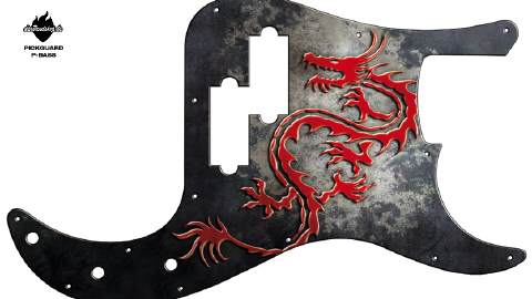 Design Pickguard - Dragon - P-Bass