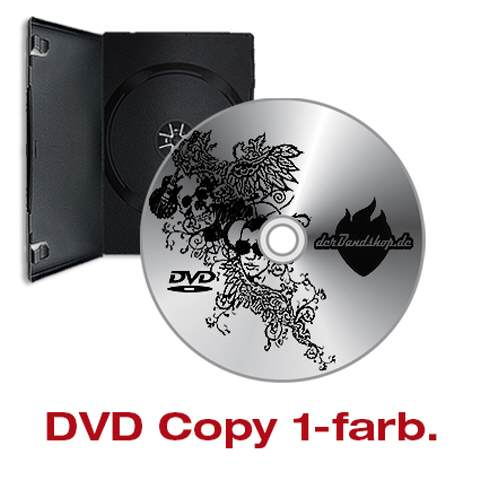 DVD-Produktion mit 1-farb Labeldruck