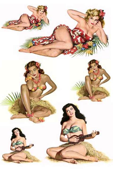 Waterslide Decal - Pin-Up Themes 2