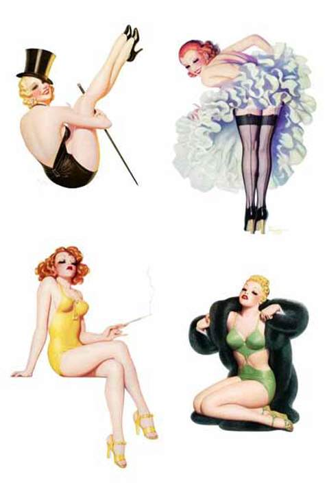 Waterslide Decal - Pin Up Art Deco 2