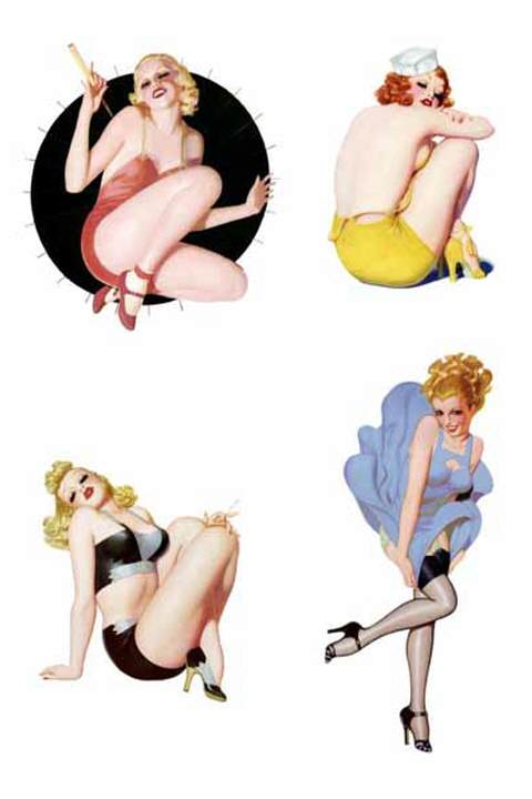 Waterslide Decal - Pin Up Art Deco 3