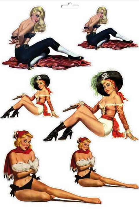 Themes Pinup-Aufkleber 1